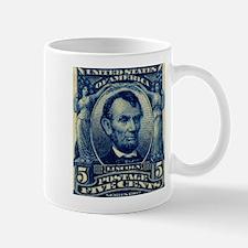 US Abraham Lincoln 5c stamp Mug