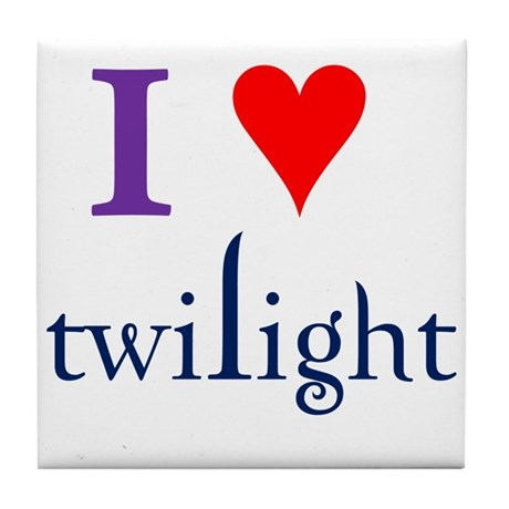 I Love Twilight Tile Coaster