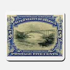 NY Niagara Falls stamp Mousepad