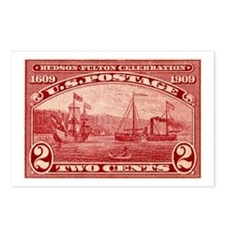 US Hudson Fulton stamp Postcards (Package of 8)