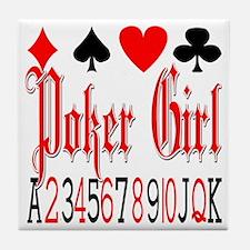 Poker Girl Tile Coaster