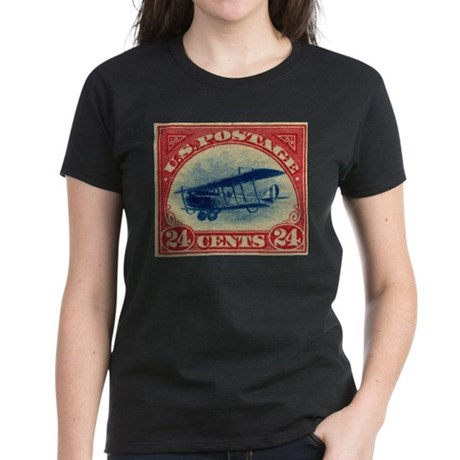 US 24c Jenny aircraft Women's Dark T-Shirt