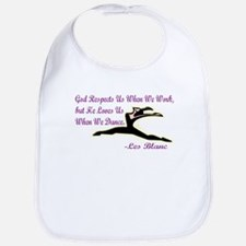Les Blanc Dance Quote Bib