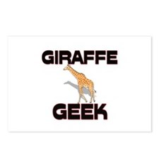 Giraffe Geek Postcards (Package of 8)