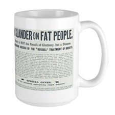 Slander on Fat People Mug