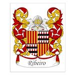 Ribeiro Family Crest Small Poster