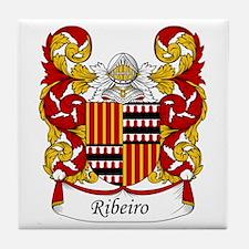 Ribeiro Family Crest Tile Coaster