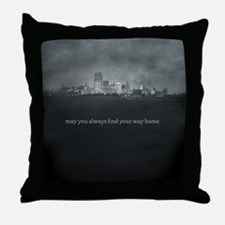 City (Words) Throw Pillow