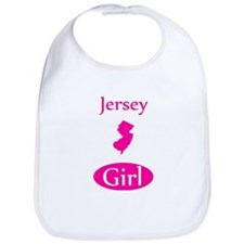 Funny New jersey girl Bib