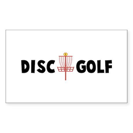 Disc Golf Rectangle Sticker