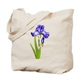 Purple iris Totes & Shopping Bags