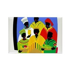 Cute African american holidays Rectangle Magnet