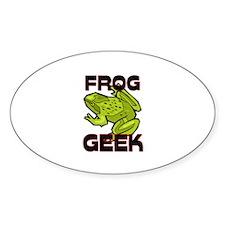 Frog Geek Oval Sticker