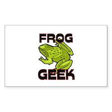 Frog Geek Rectangle Sticker