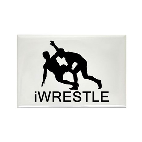 iWrestle Rectangle Magnet