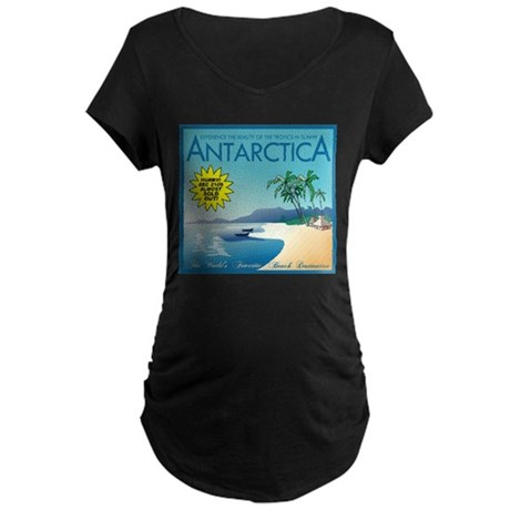 Visit Tropical Antarctica Maternity Dark T-Shirt