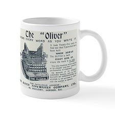 Oliver typewriter Small Mugs