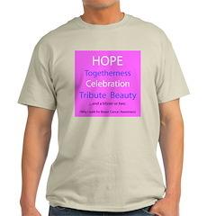Breast Cancer Walk Ash Grey T-Shirt