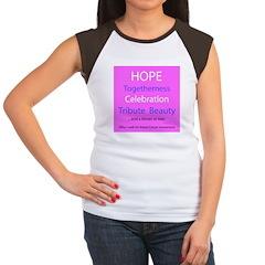 Breast Cancer Walk Women's Cap Sleeve T-Shirt