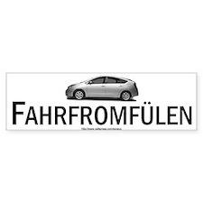 Toyota Prius Hybrid: Fahrfromfülen Bumper Sticker