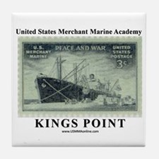 WWII Merchant Marine Stamp Tile Coaster