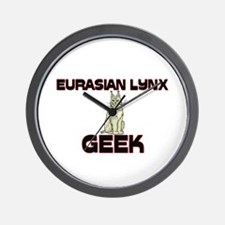Eurasian Lynx Geek Wall Clock