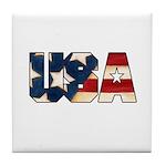 USA Flag Tile Coaster