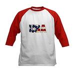 USA Flag Kids Baseball Jersey