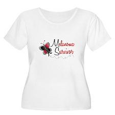 Melanoma Survivor 1 Butterfly 2 T-Shirt