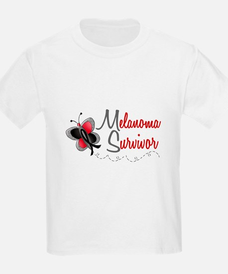Melanoma Survivor 1 Butterfly 2 T-Shirt