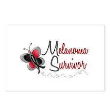 Melanoma Survivor 1 Butterfly 2 Postcards (Package