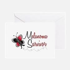 Melanoma Survivor 1 Butterfly 2 Greeting Card