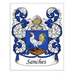 Sanches Family Crest Small Poster