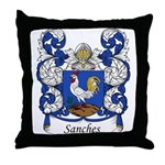 Sanches Family Crest Throw Pillow