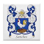Sanches Family Crest Tile Coaster