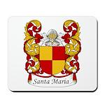 Santa Maria Family Crest Mousepad