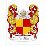 Santa Maria Family Crest Small Poster
