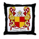 Santa Maria Family Crest Throw Pillow