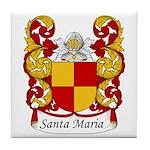 Santa Maria Family Crest Tile Coaster