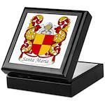 Santa Maria Family Crest Keepsake Box