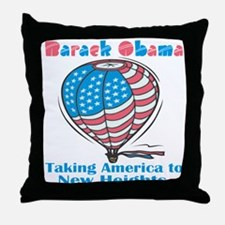 Taking America To New Heights Throw Pillow