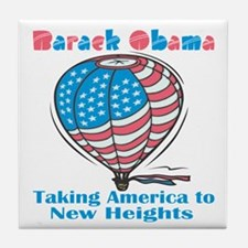 Taking America To New Heights Tile Coaster