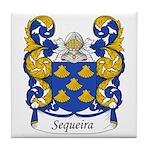 Sequeira Family Crest Tile Coaster