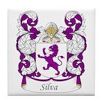 Silva Family Crest Tile Coaster