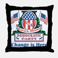 Obama: Change Is Here Throw Pillow