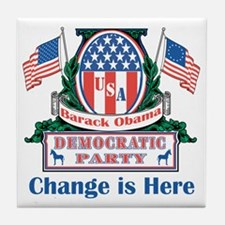 Obama: Change Is Here Tile Coaster
