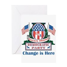 Obama: Change Is Here Greeting Card