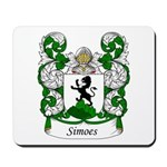 Simoes Family Crest Mousepad