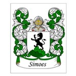 Simoes Family Crest Small Poster