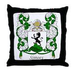 Simoes Family Crest Throw Pillow